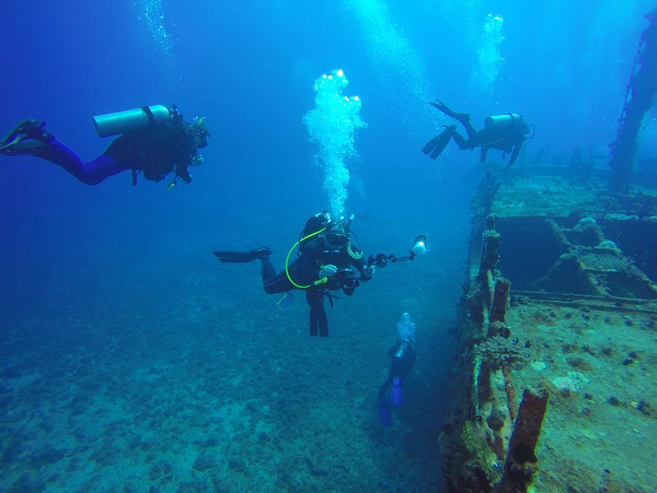 Divers over a Wreck